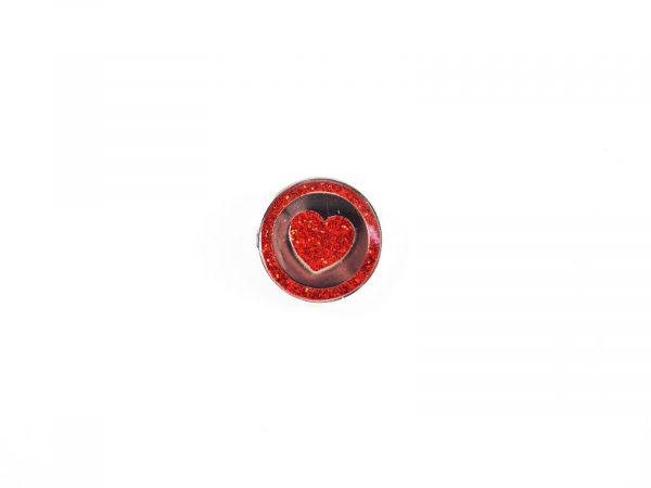 YAA Heart Pin Badge