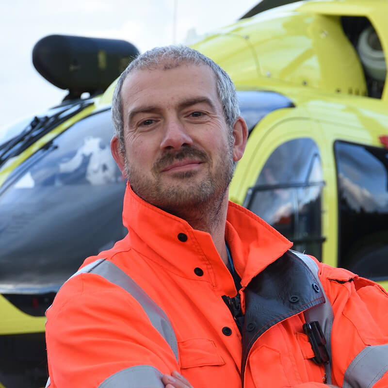 alday paramedic at Yorkshire Air Ambulance