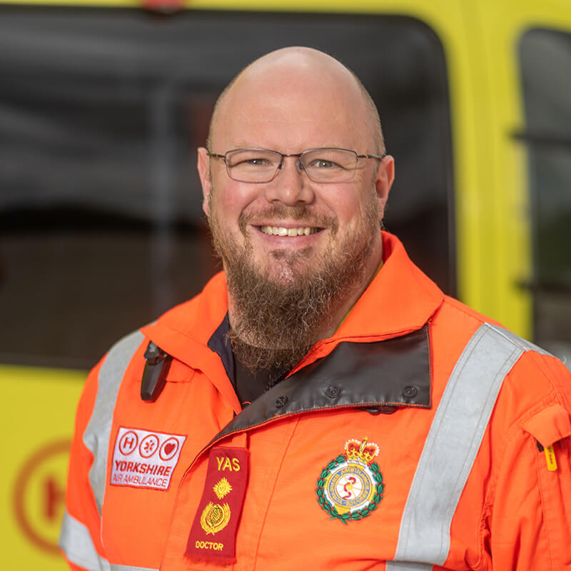 Dr Andy Pountney - Yorkshire Air Ambulance - Team Member