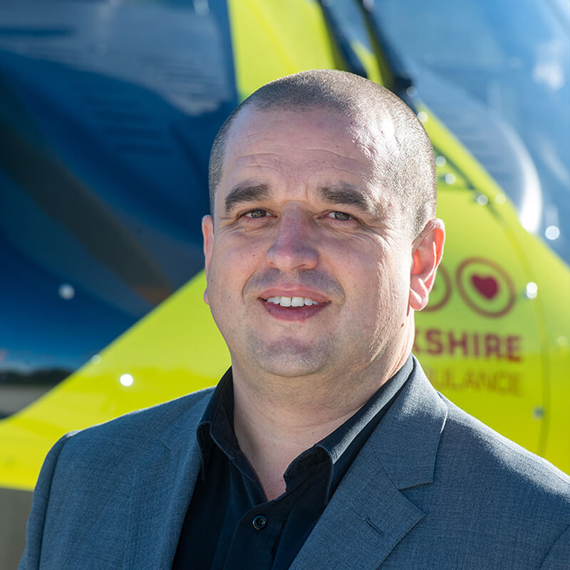 Neale Jacobs is one of the Team Members at the Yorkshire Air Ambulance