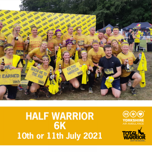 Image of Half Warrior participants and details of this years event dates