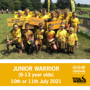 Image of Junior Warrior participants and this years event dates