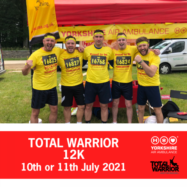 Image of Total Warrior participants and this years event dates