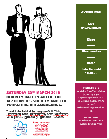 Yorkshire Air Ambulance Fundraising Dinner