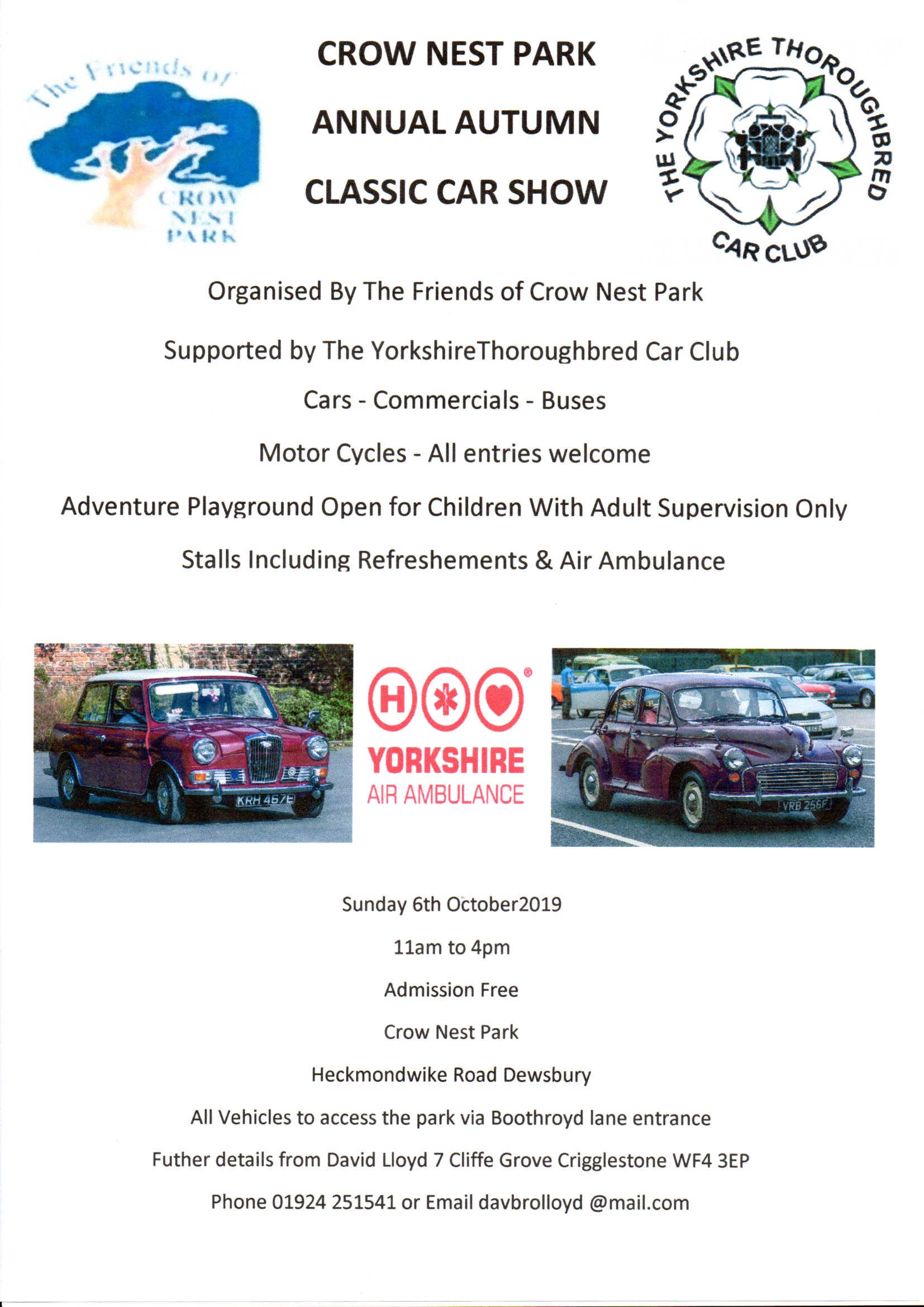 Crow Nest Park Annual Autumn Classic Car Show