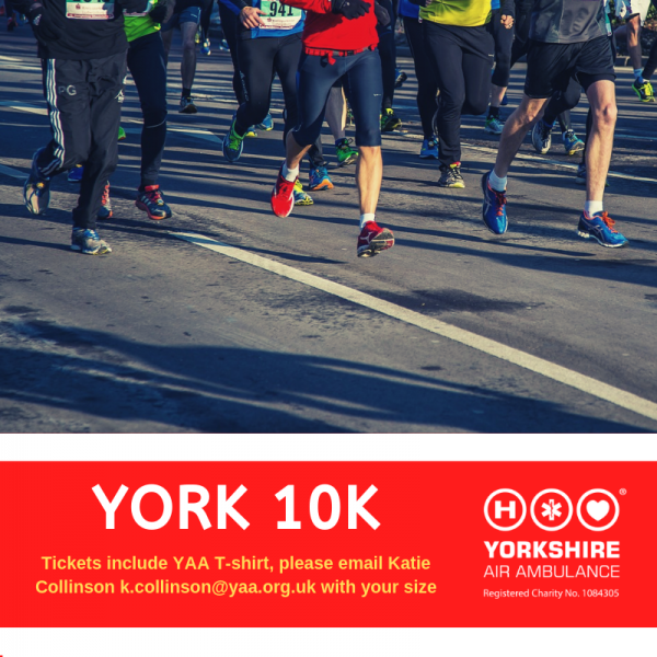 Run for All York 10K Tickets ad