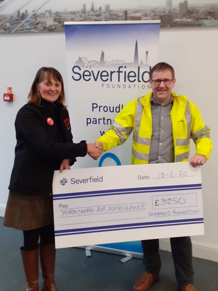 Severfield continue YAA support and raise a further £3,250!