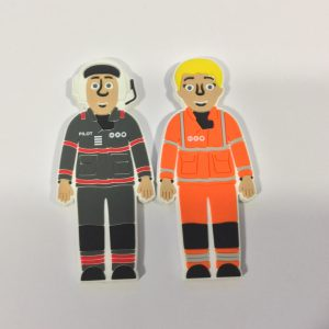 Polly and Percy Fridge Magnets