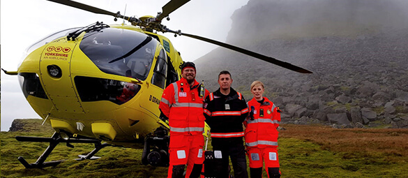 crew & helicopter