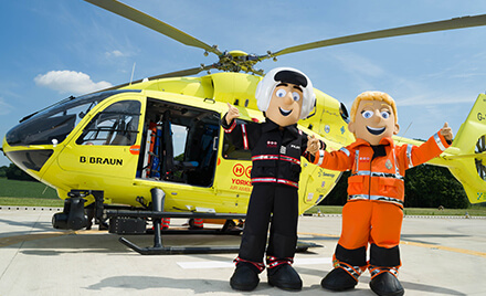 Yorkshire Air Ambulance Fundraising mascots
