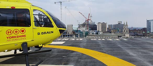 Yorkshire Air Ambulance helipad