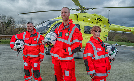 Crew in front of the YAA Helicopter 2