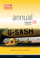 image of the cover of the Yorkshire Air Ambulance Annual Report 10 - Year ending March 2010