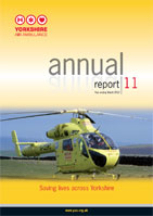 image of the cover of the Yorkshire Air Ambulance Annual Report 11 - Year ending March 2011