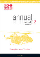 image of the cover of the Yorkshire Air Ambulance Annual Report 12 - Year ending March 2012