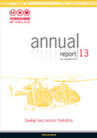 image of the cover of the Yorkshire Air Ambulance Annual Report 13 - Year ending March 2013
