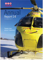 image of the cover of the Yorkshire Air Ambulance Annual Report 14 - Year ending March 2014