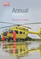 age of the cover of the Yorkshire Air Ambulance Annual Report 15 - Year ending March 2015