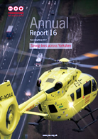 Image of the cover of the Yorkshire Air Ambulance Annual Report 16 - Year ending March 2016