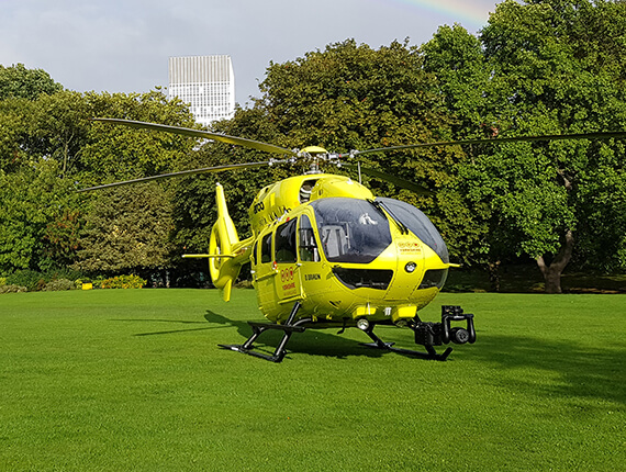 Scheduled Helicopter Visits