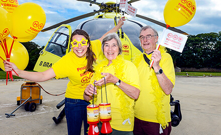 fundraisers with the helicopter