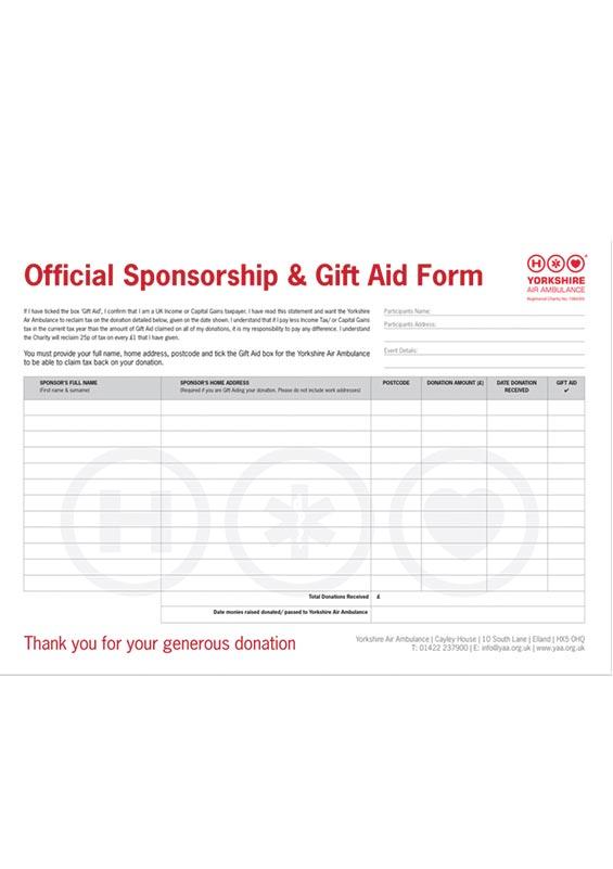 resources sponsorship form