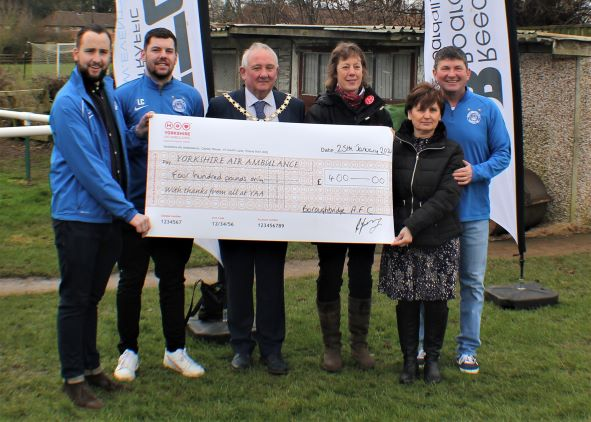 Boroughbridge Football Club raise £400 for YAA in memory of Tony Allen