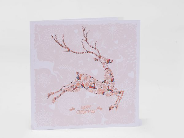 Colourful Stag Christmas Card