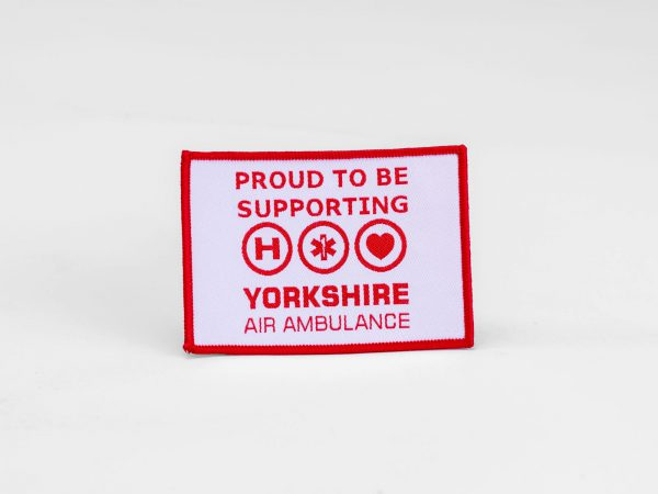Sew on 'Proud to be supporting....' fabric badge