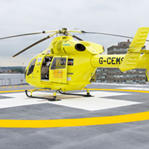 History-2008 - Helicopter on a helicopter pad for Helicopter Heroes