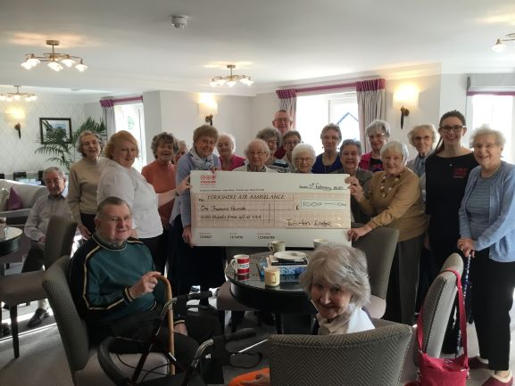 Residents of Tatterton Lodge Wetherby raise £1,000 for YAA