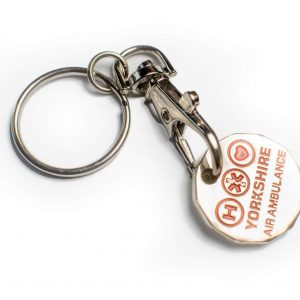 Yorkshire Air Ambulance Trolley Coin Keyring