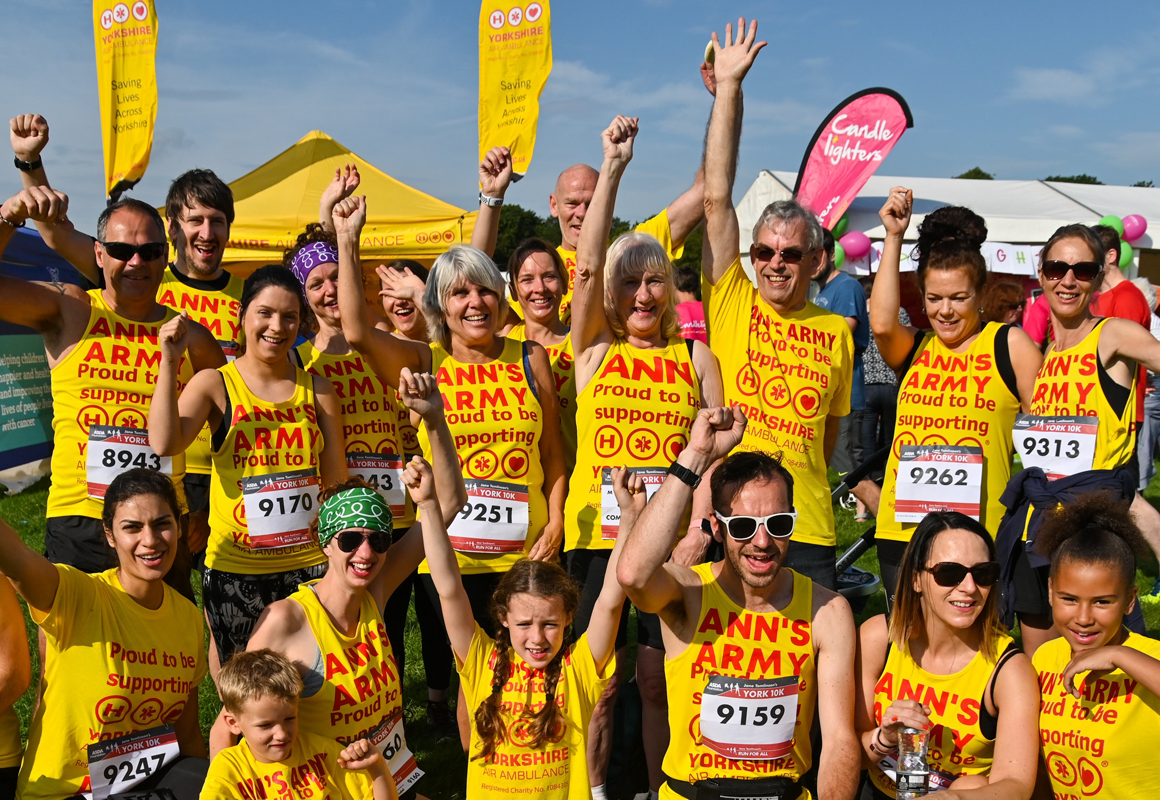 Image of York 10K Run 4 All Team ANN'S ARMY running for Yorkshire Air Ambulance