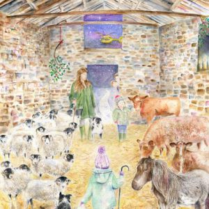 Yorkshire Shepherdess Christmas Card