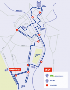 Run For All 10K Route Map