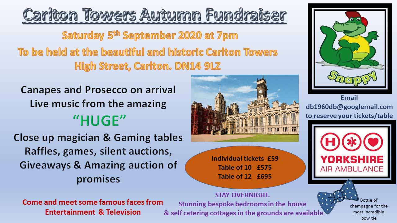 Carlton Towers Autumn Fundraiser Poster