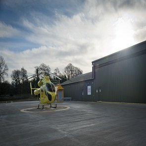 Nostell Yorkshire Air Ambulance Base for Helicopter Heroes