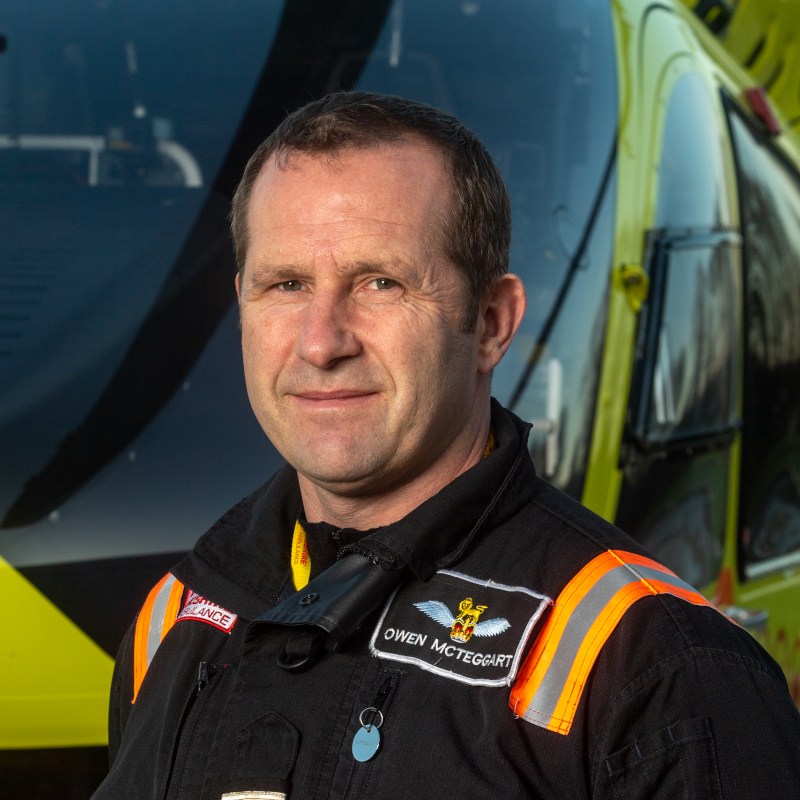 Image of Yorkshire Air Ambulance Pilot Owen McTeggart