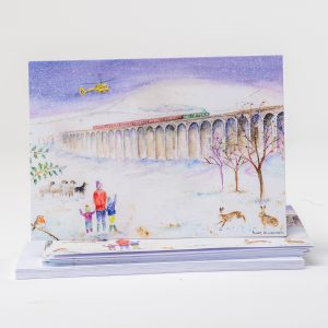 Ribblehead Viaduct Christmas Card for the Yokshire Air Ambulance
