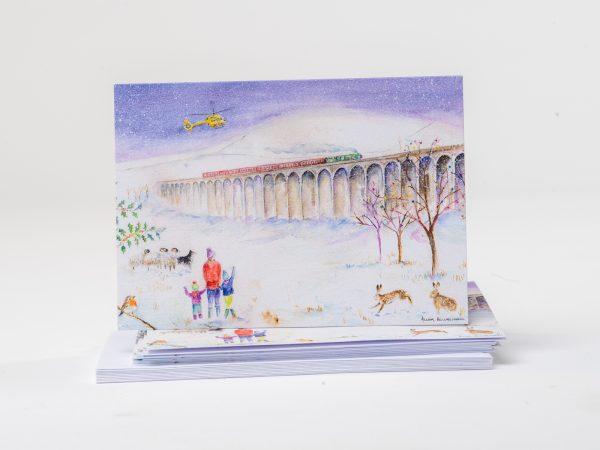 Ribblehead Viaduct Christmas Card for the Yokshire Air Ambulance