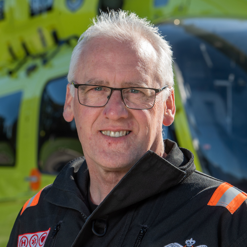 Image of Yorkshire Air Ambulance Director of Aviation Steve Waudby