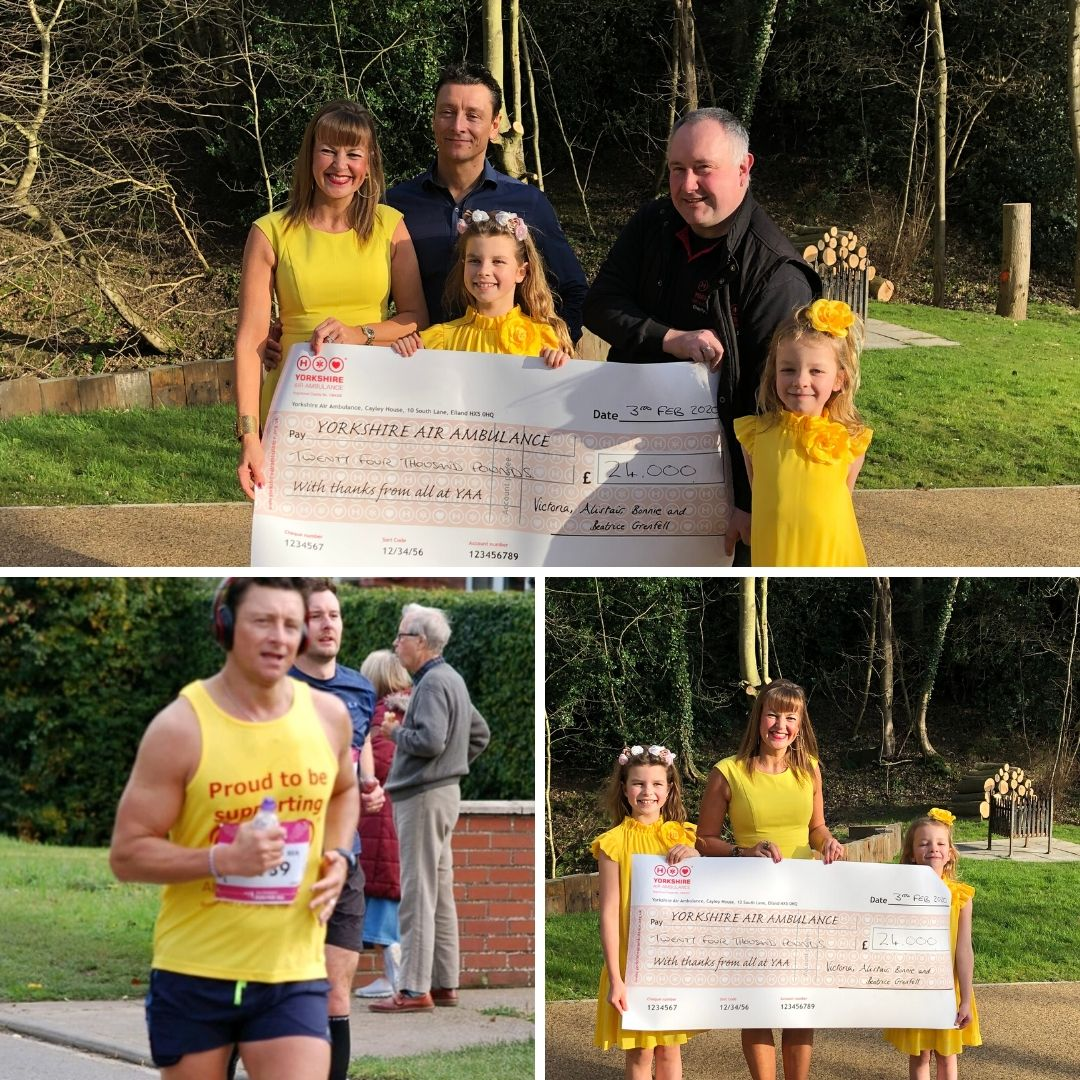 Victoria Grenfell & family raise £24,000 for Yorkshire Air Ambulance!