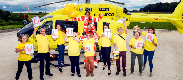 Image showing Yorkshire Air Ambulance volunteers