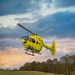 Yorkshire Air Ambulance helicopter on Helicopter Heroes