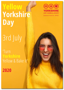 Image of front cover of Yorkshire Air Ambulance Yellow Yorkshire Day 2020 Guide