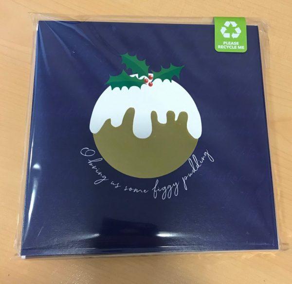 Christmas Pudding Christmas Card