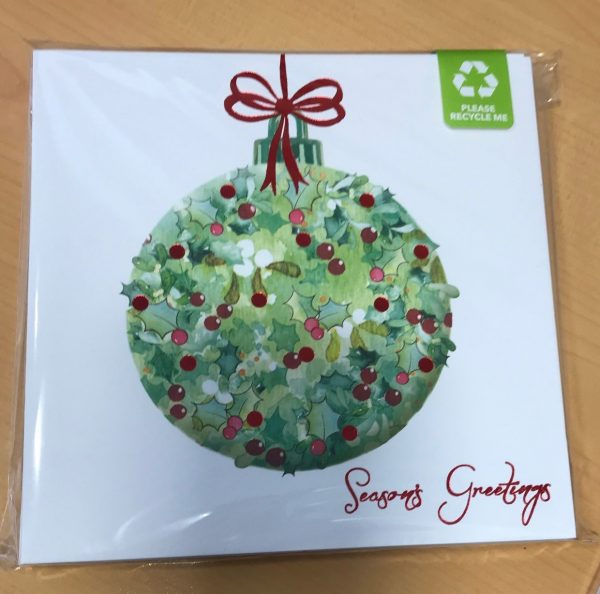 Ivy Bauble Christmas Card