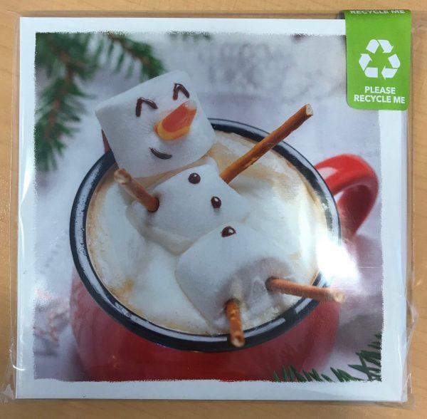 Mallow Snowman Christmas Card