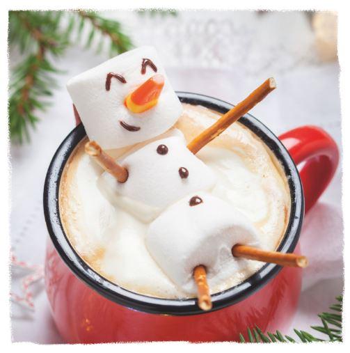 snowman xmas card