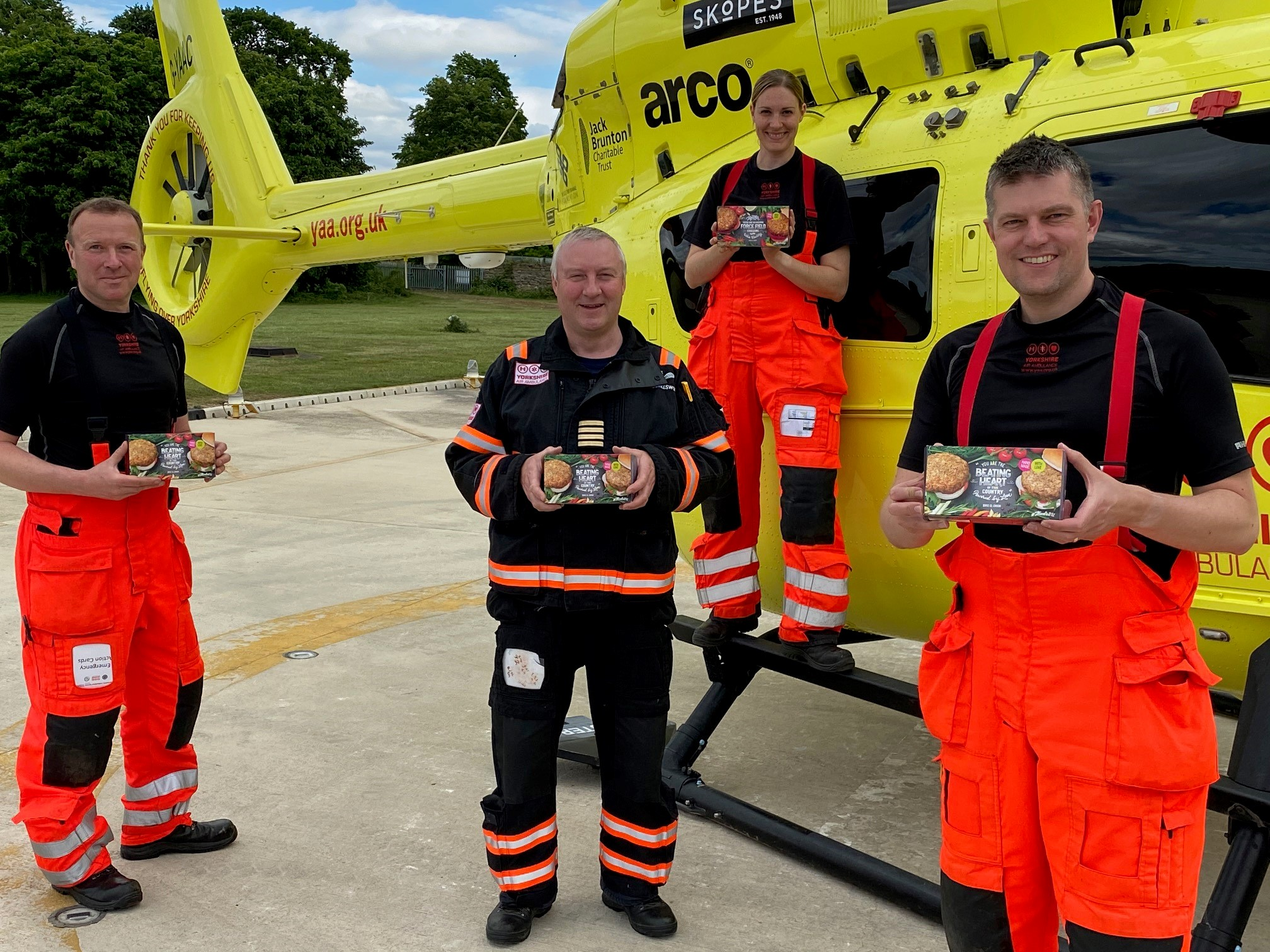 Plant-based burgers for our crew! | Yorkshire Air Ambulance